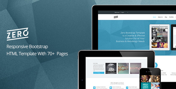 Zero – Responsive Bootstrap HTML Template
