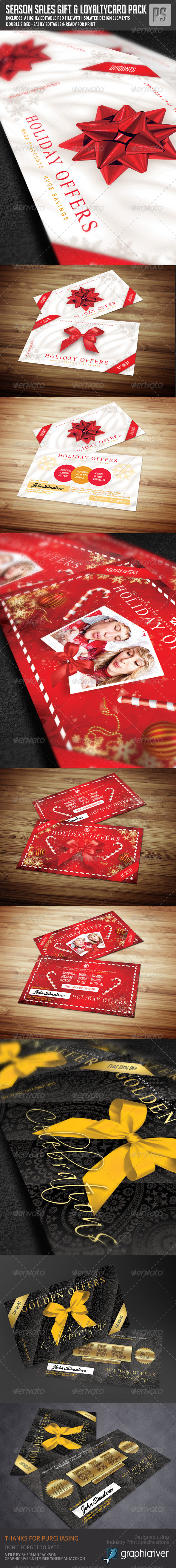 Gift Card / Loyalty Card Bundle (3in1) - Loyalty Cards Cards & Invites