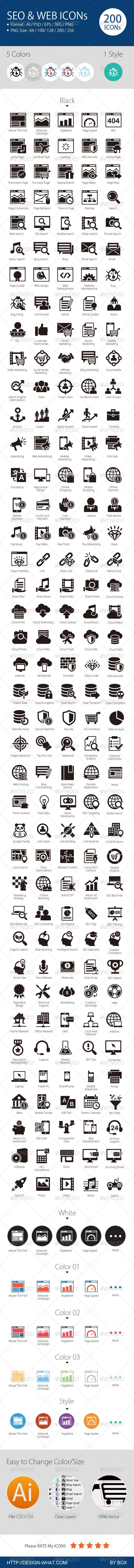 SEO & Web Icons - Web Icons