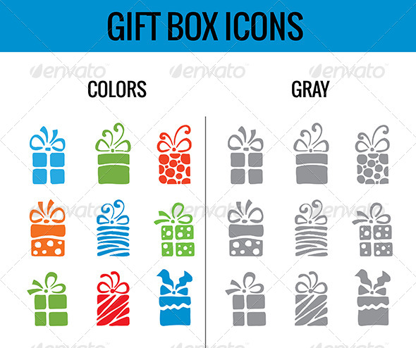 Gift Box Icon - Miscellaneous Characters