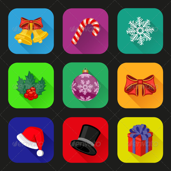 Holiday Icons Set - Web Icons