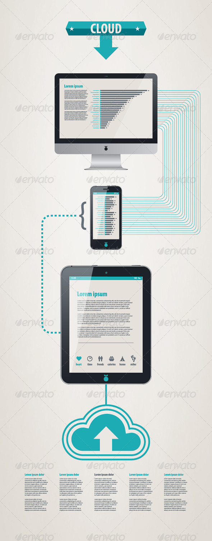Element infographics cloud technologies - Infographics