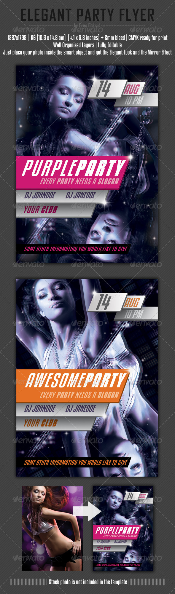 Elegant Party Flyer Template - Clubs & Parties Events