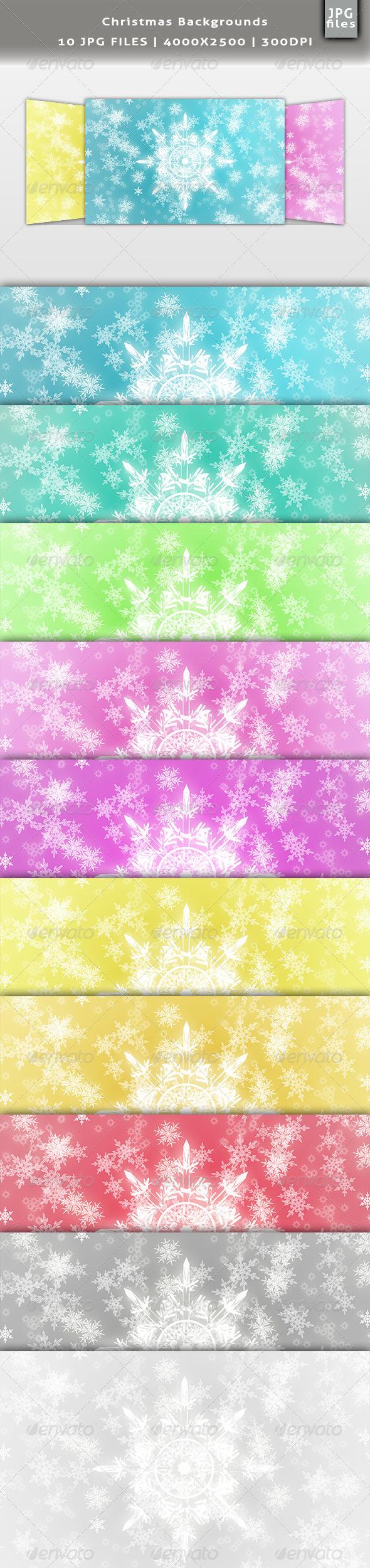 Christmas Backgrounds Set - Miscellaneous Backgrounds