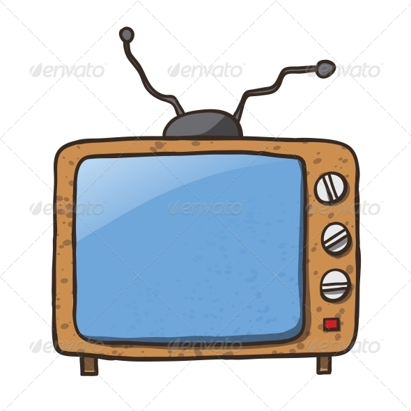 Cartoon Home Appliances Old TV - Man-made Objects Objects