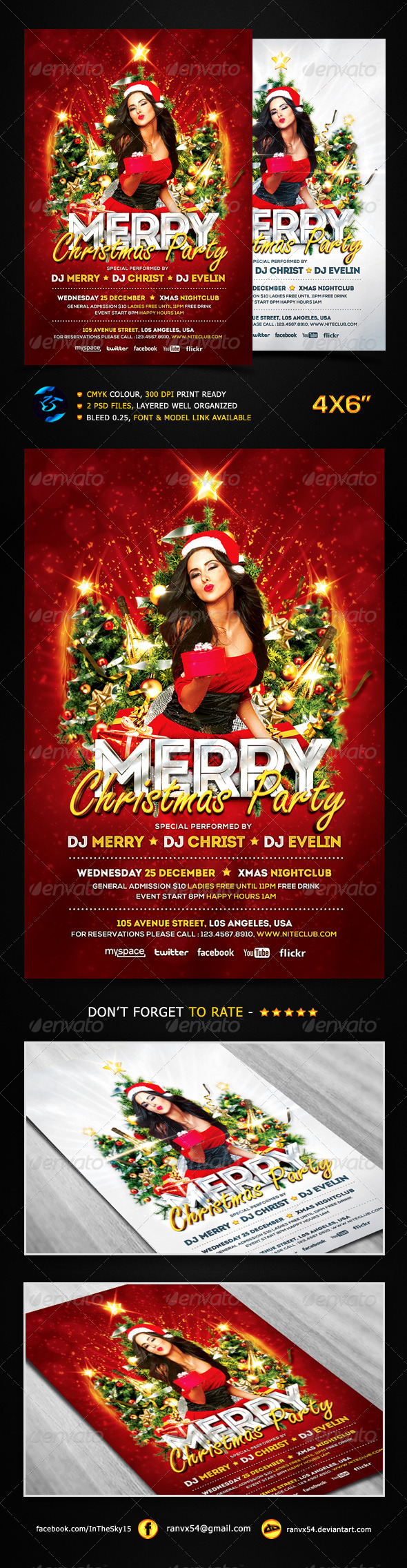 Merry Christmas Party Flyer Template - Events Flyers