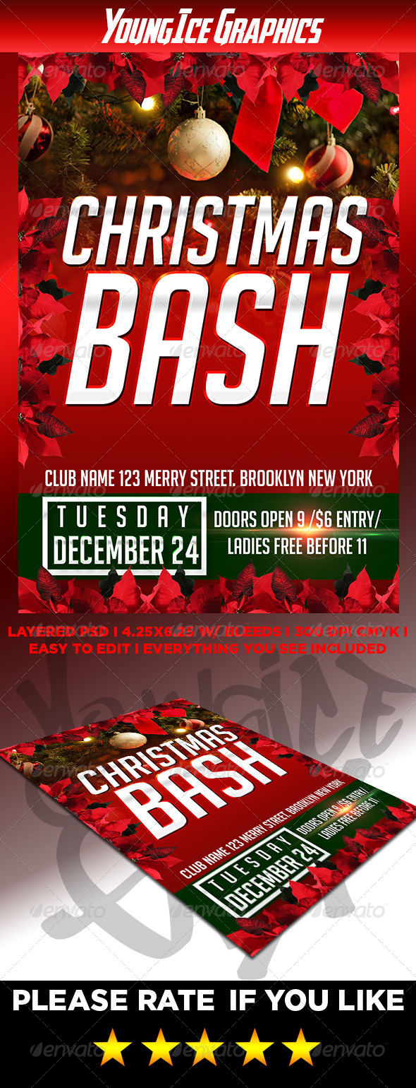 Christmas Bash Flyer - Clubs & Parties Events