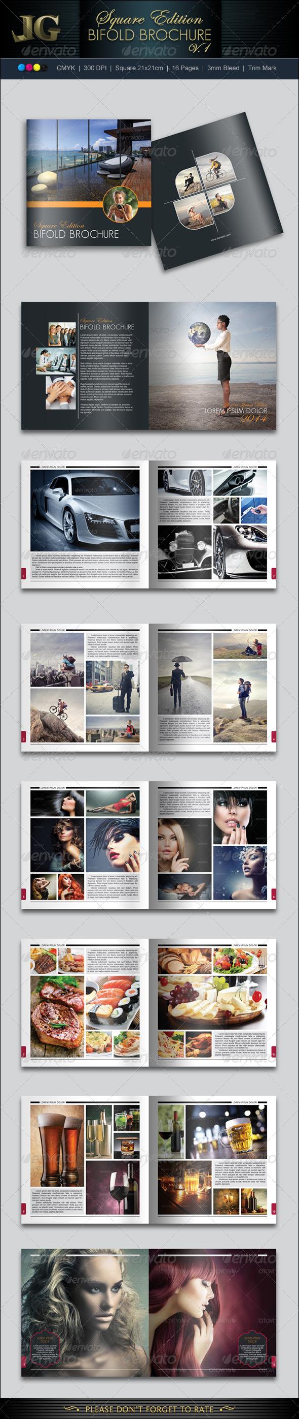 Bifold Brochure V1 - Photo Albums Print Templates