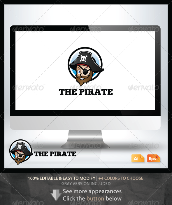 The Pirate Logo - Humans Logo Templates