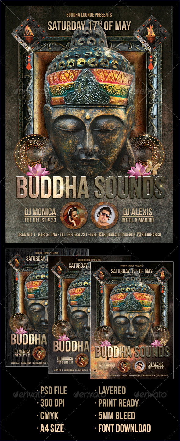 Buddha Style Club Flyer - Clubs & Parties Events