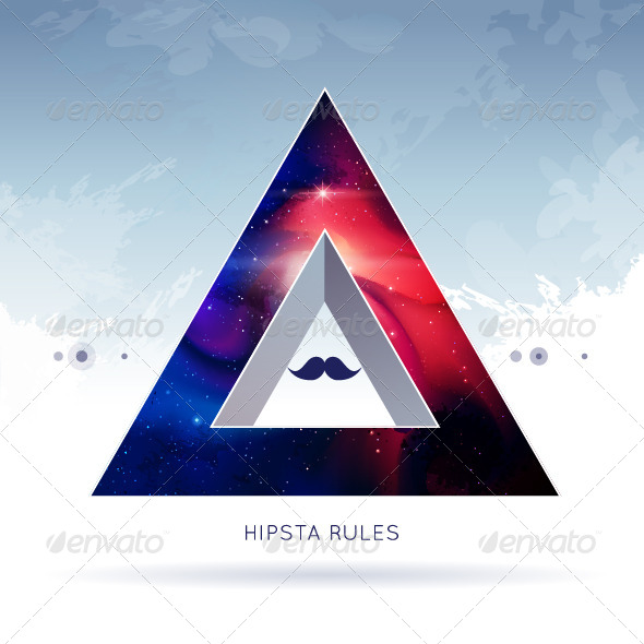 Triangle Hipster Background - Vectors