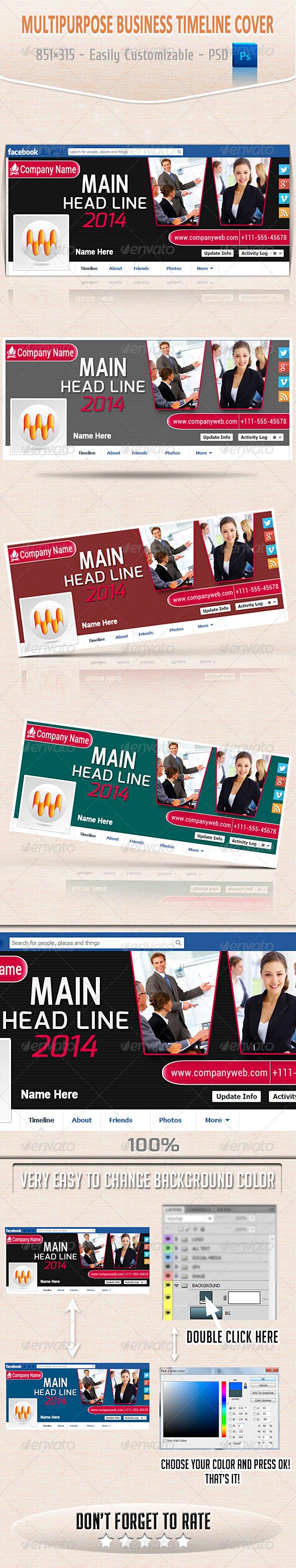 Multipurpose Business Timeline Cover - Facebook Timeline Covers Social Media