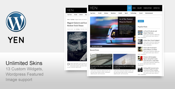 YEN – Magazine, News and Blog WordPress Template
