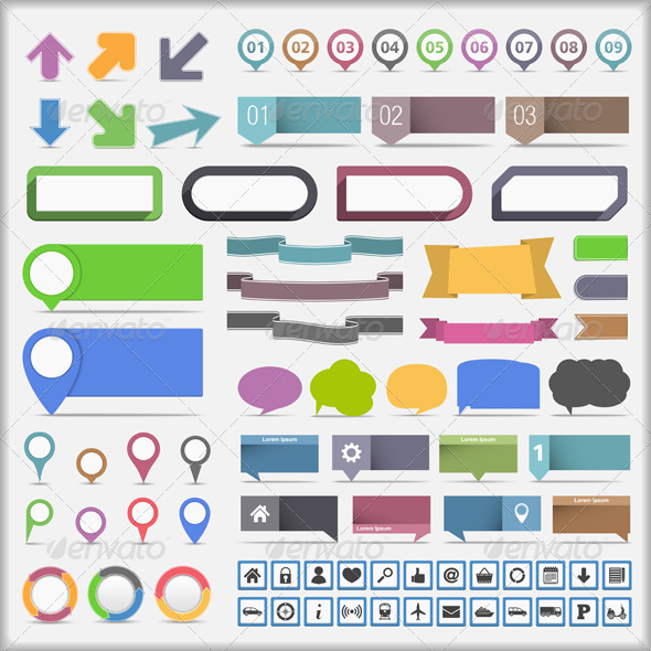Infographics Design Elements - Miscellaneous Vectors