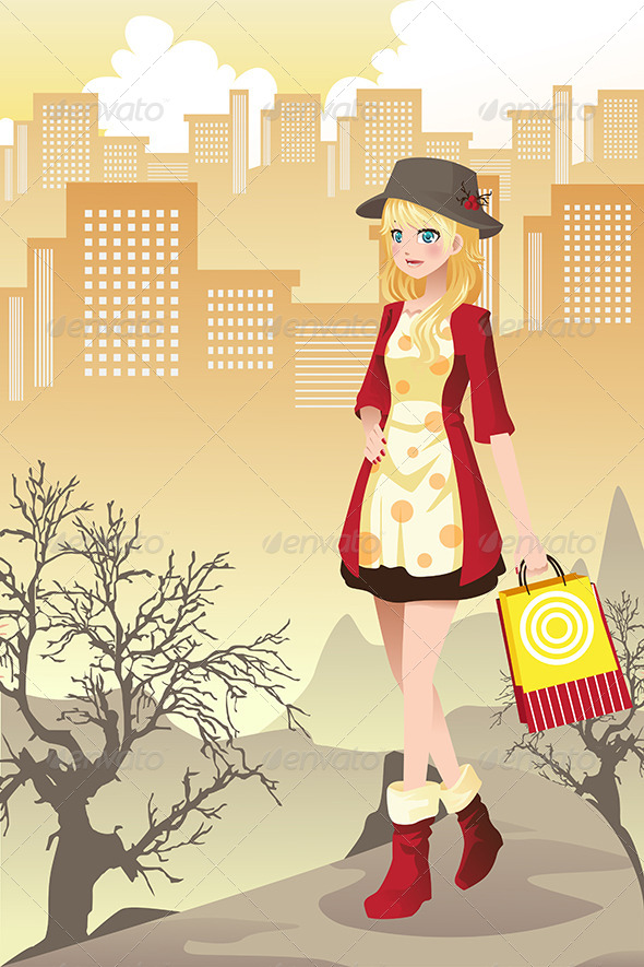 Shopping Girl - Commercial / Shopping Conceptual