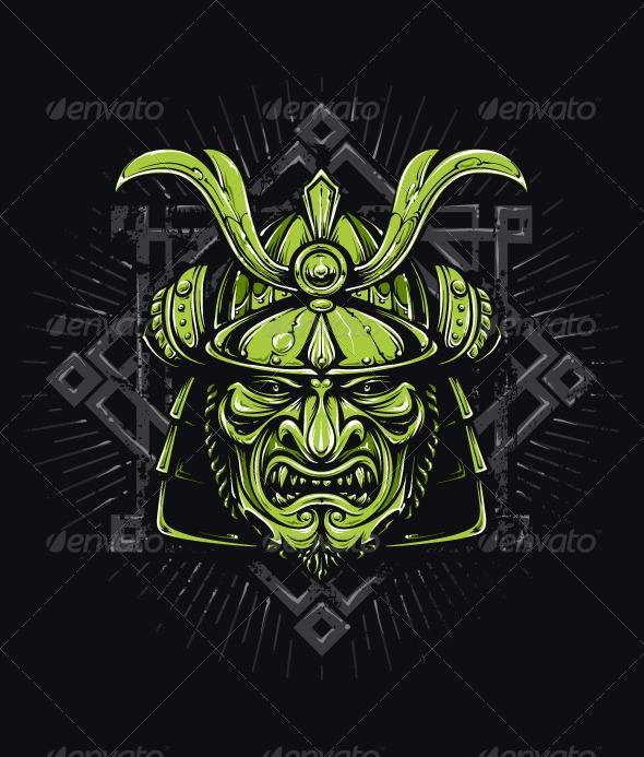 Vector Samurai Mask - Vectors