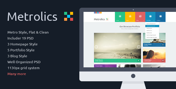 Metrolics - Business Metro Sytle PSD Template -