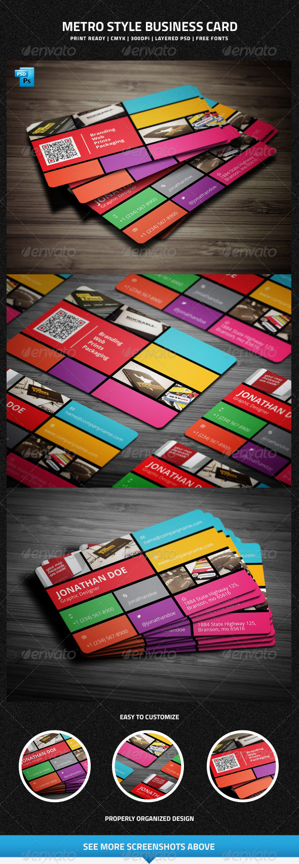 Metro Style Business Card - 16 - Creative Business Cards