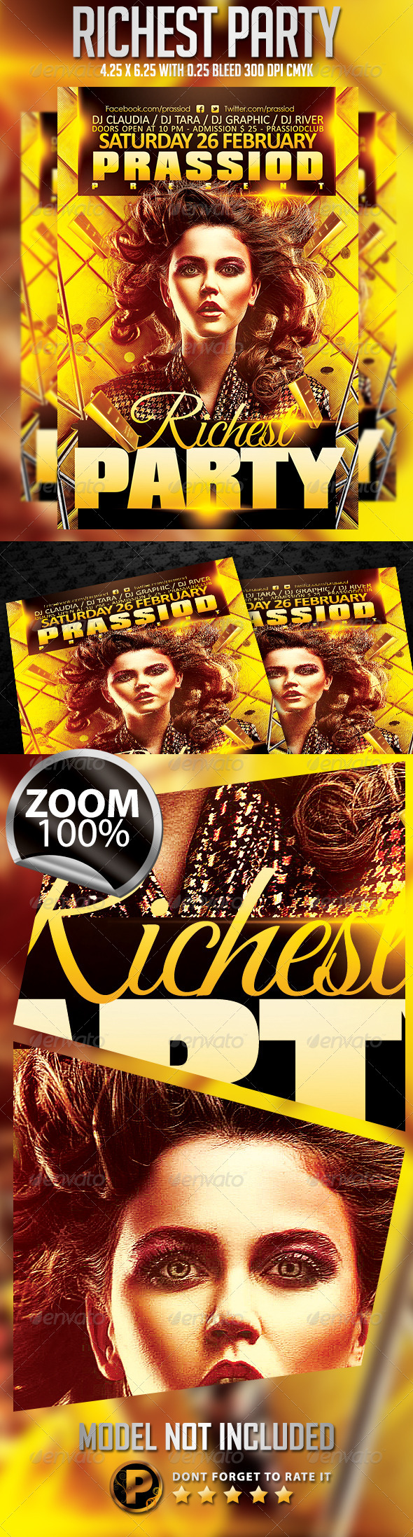 Richest Party Flyer Template - Clubs & Parties Events