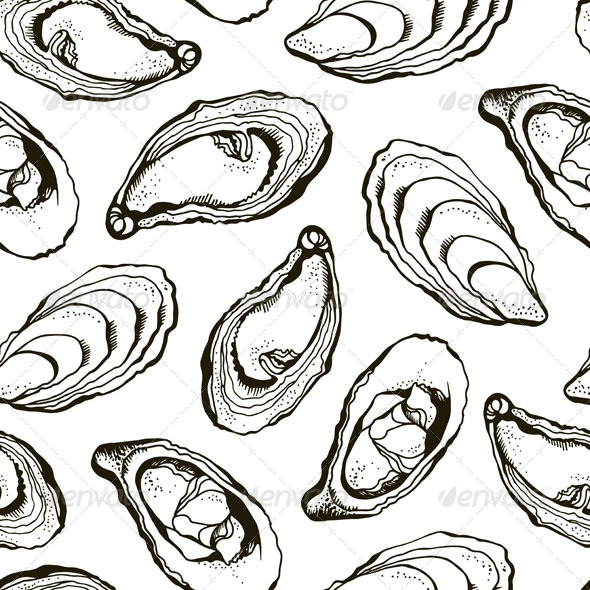 Oysters Pattern - Animals Characters