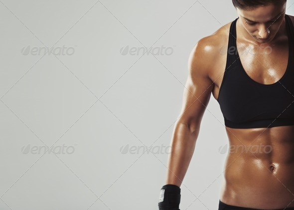 Female resting with intense workout - Stock Photo - Images