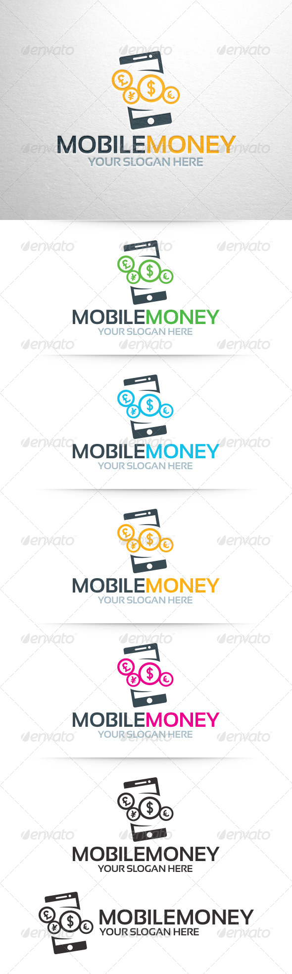 Mobile Money Logo Template - Objects Logo Templates
