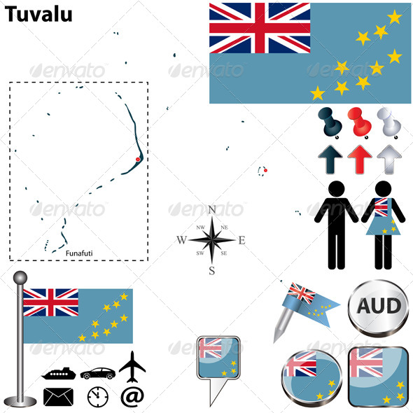 Map of Tuvalu - Travel Conceptual