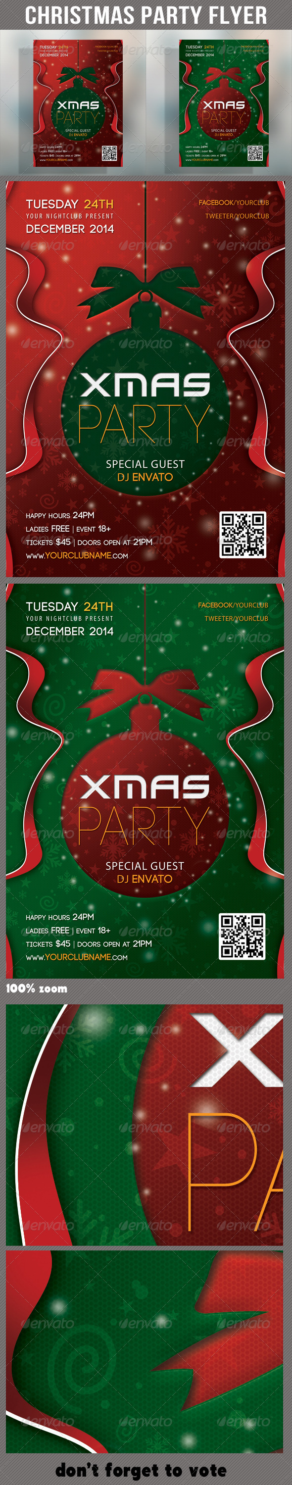 Merry Christmas Party Flyer 02 - Holidays Events