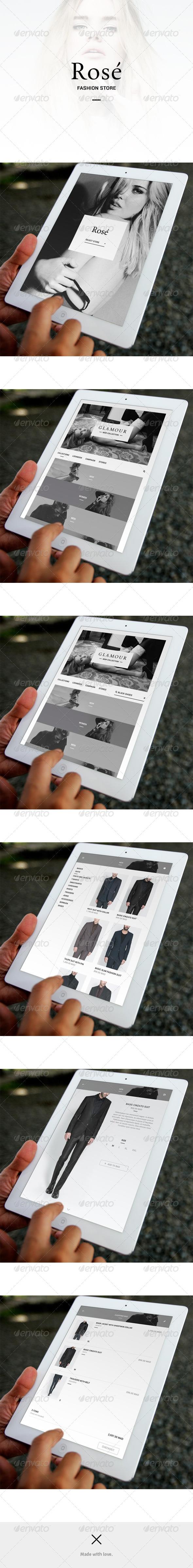 Fashion Store App UI - Rosé - User Interfaces Web Elements