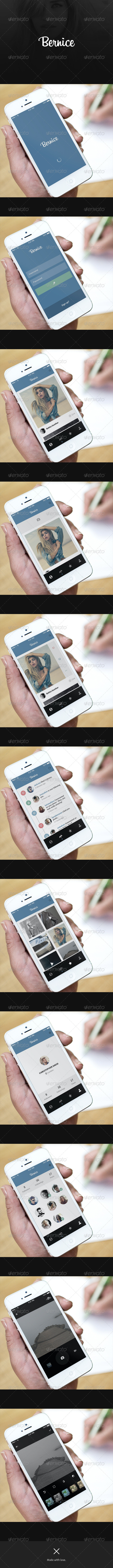 Photo-Sharing App UI - Bernice - User Interfaces Web Elements