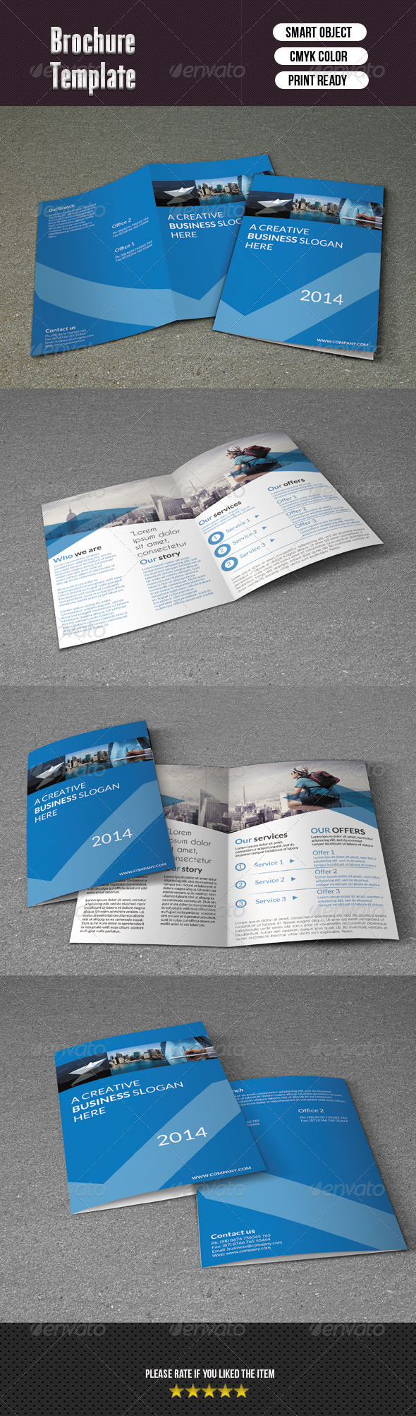 Corporate Bifold Template - Corporate Brochures