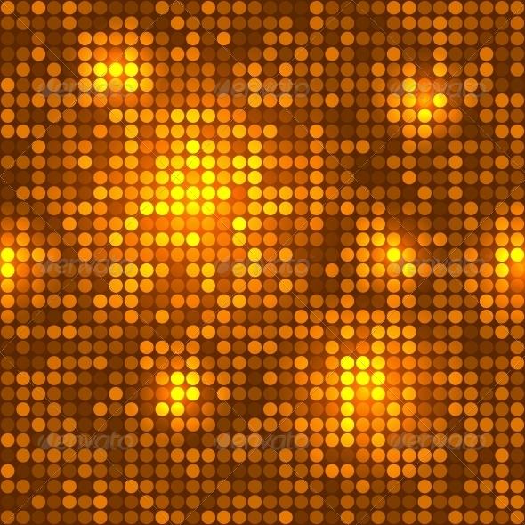 Disco Golden Background Seamless Pattern. - Patterns Decorative