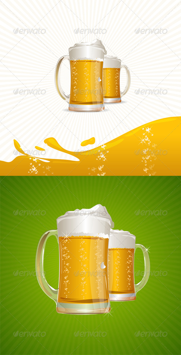 Mugs of Beer  - Food Objects