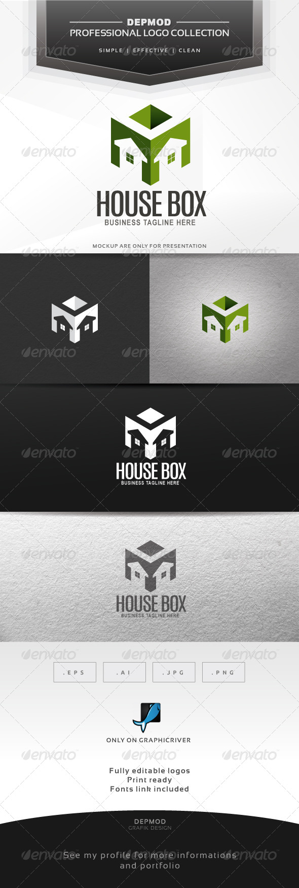 House Box Logo - Symbols Logo Templates