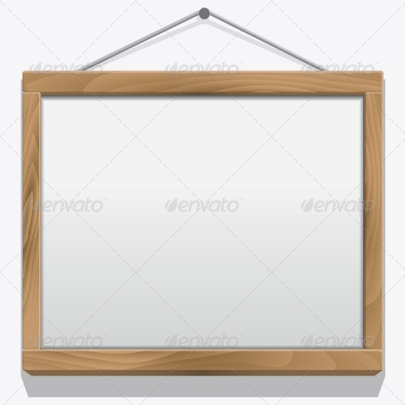 Wood Frame Isolated on White - Borders Decorative