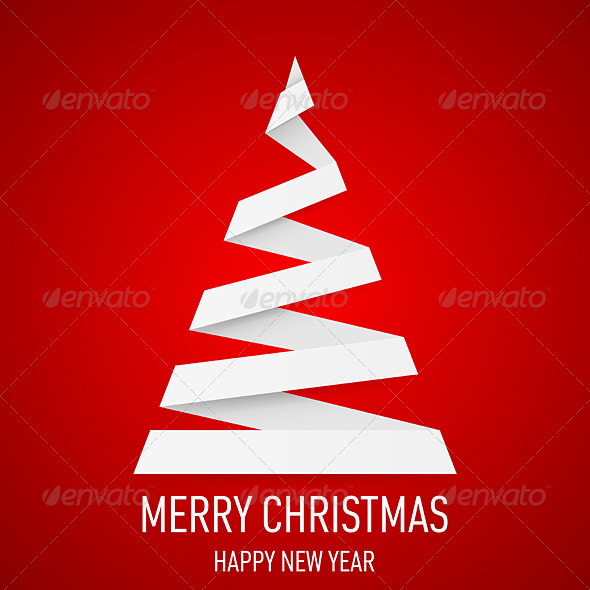 Christmas Tree in Origami Style. - Miscellaneous Vectors