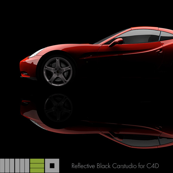 MW3D Black Car Studio Rendersetup C4D R15 AR - 3DOcean Item for Sale