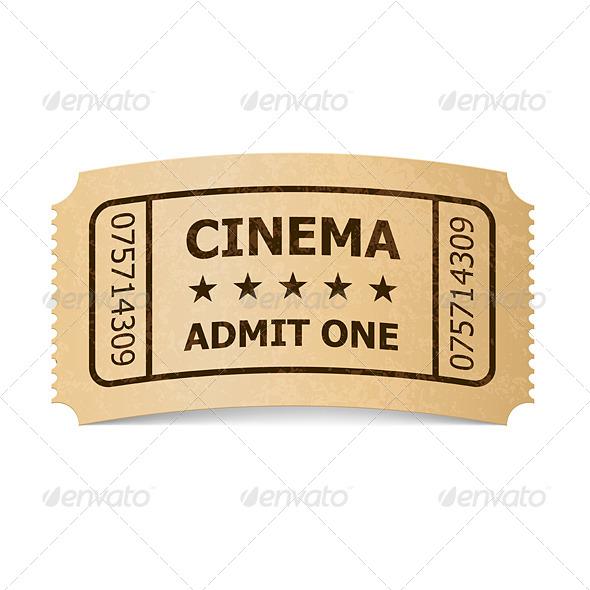 Cinema Ticket. - Miscellaneous Vectors