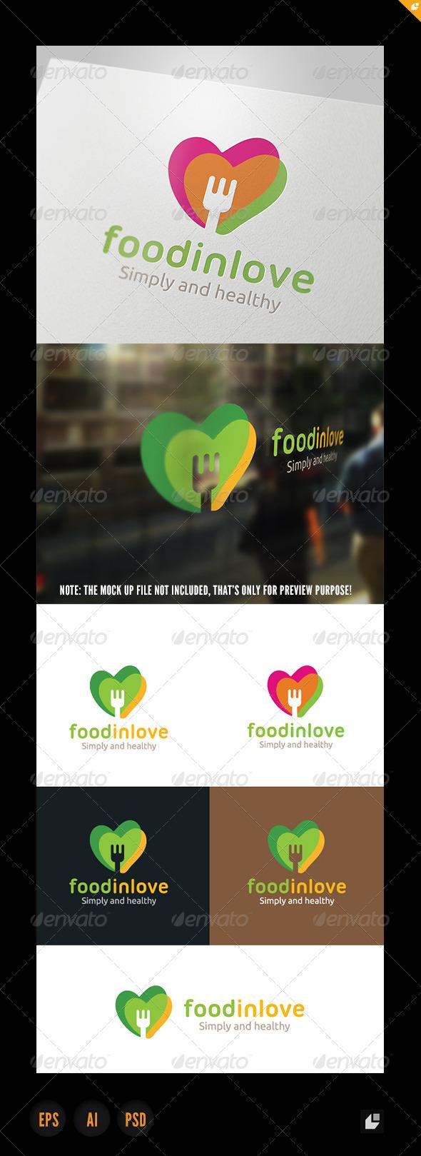 Food In Love Logo - Food Logo Templates