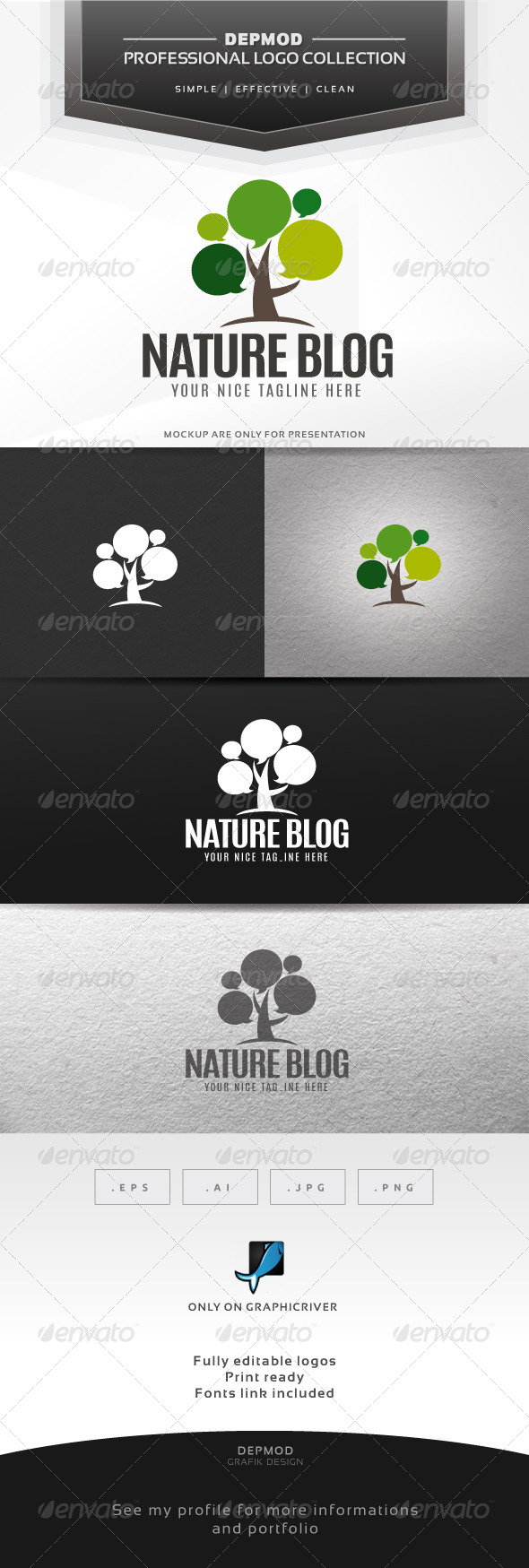 Nature Blog Logo - Symbols Logo Templates