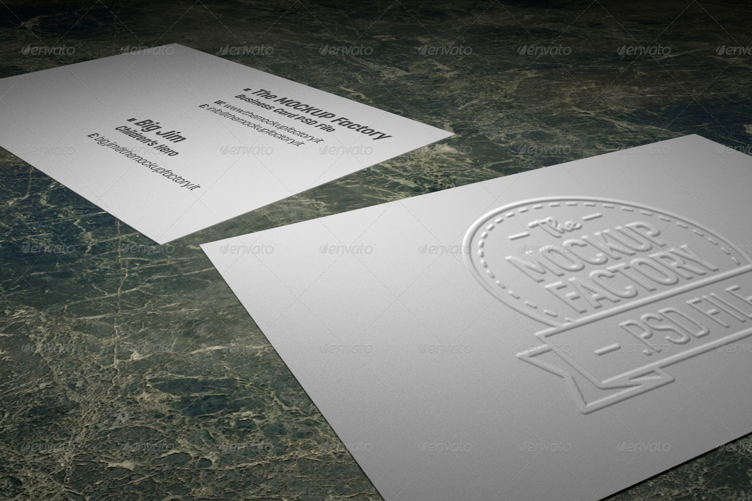 Photorealistic Embossed Business Card MockUp by themockupfactory ...
