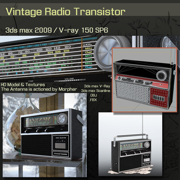 Vintage Radio Transistor - 3DOcean Item for Sale