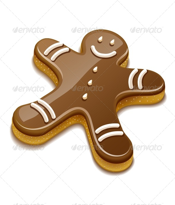 Sweet Chocolate Biscuit Human For Christmas - Miscellaneous Vectors
