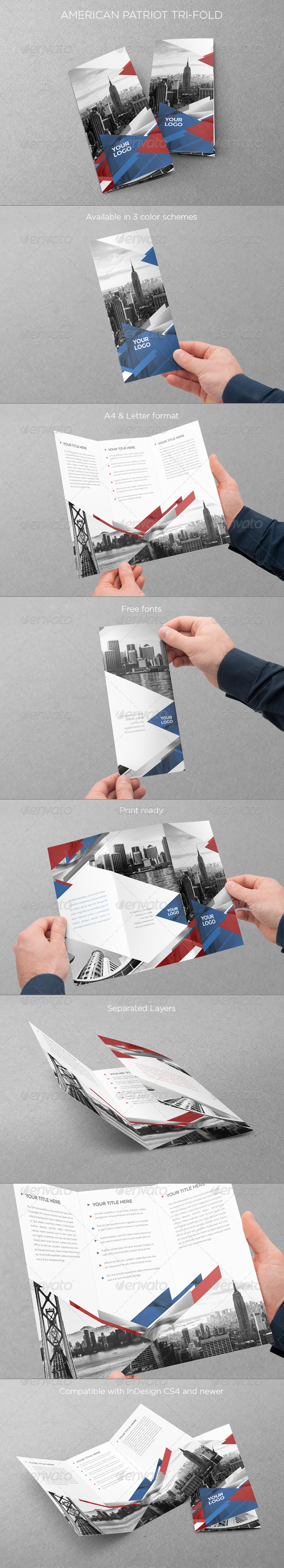 American Patriot Trifold - Informational Brochures
