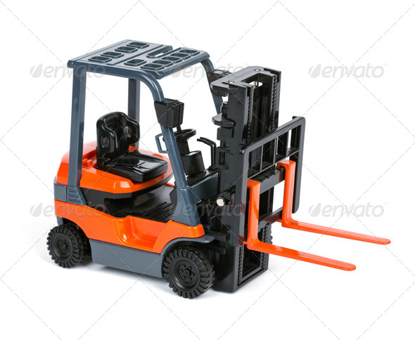 Loader isolated on a white - Stock Photo - Images