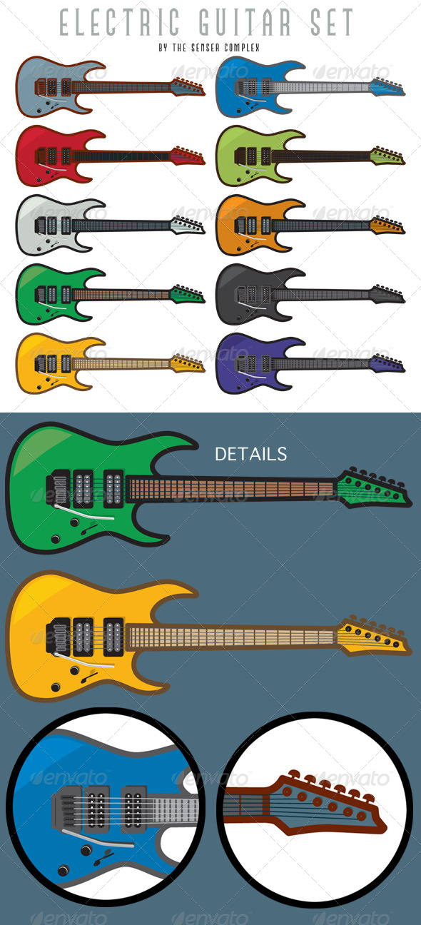 Electric Guitar Set - Man-made Objects Objects