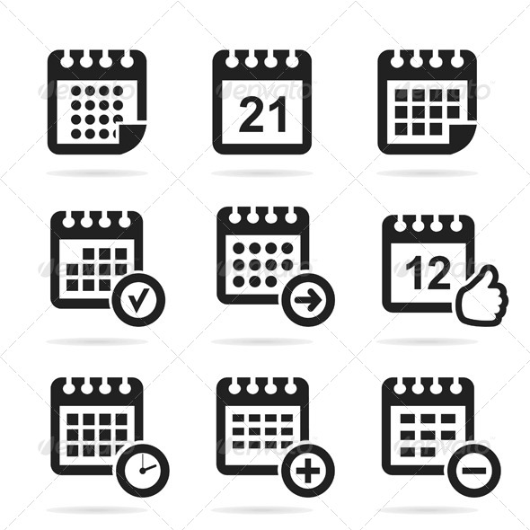Calendar Icons - Miscellaneous Vectors