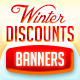 Winter Discounts Web Ad Banners - GraphicRiver Item for Sale