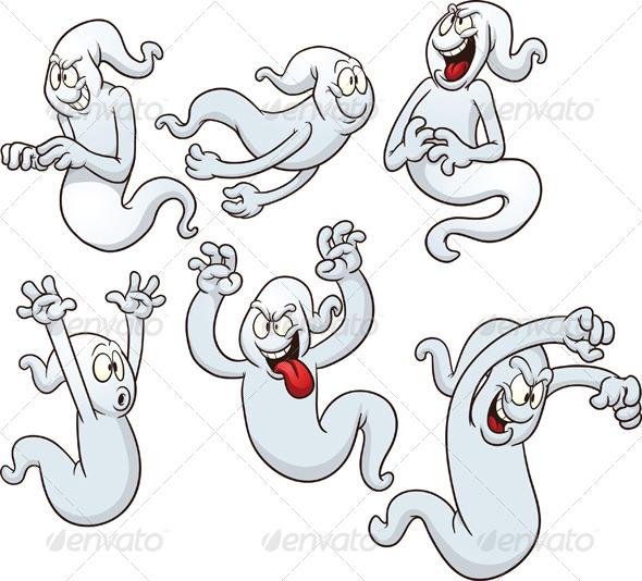 Cartoon Ghosts - Halloween Seasons/Holidays