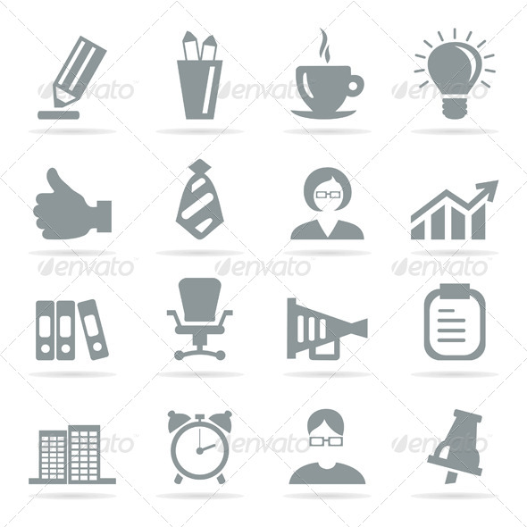 Office Icons - Web Elements Vectors